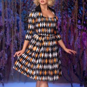 PUG Jenny Dress Halloween Harlequin NWT
